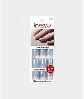 KISS imPRESS Nails Press-On Manicure Nails (BIPD280-Bright as a FeatherNewStyle