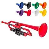 pBone PTRUMPET1R The Plastic Trumpet, Red (2016 version)