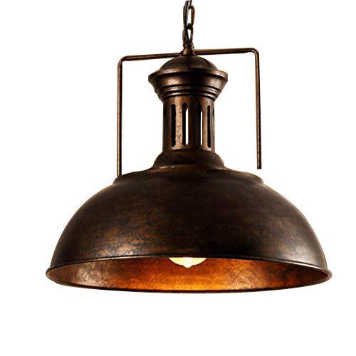"""Modern Industrielle Vintage Pendelleuchte Hängeleuchter Kronleuchter Hängelampe Deckenleuchte 12,99\"""" Breite Nautisch Lampe für Küchen Esszimmer - Rostfarbe"""