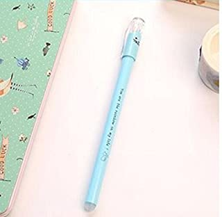 Royare of School Supplies 3Pcs/Set Kitten Gel Pen Kit Signing Pen Student Stationery Supplies (Blue)