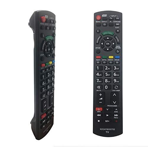 Nuevo Reemplazo Mando Panasonic TV N2QAYB000752 para Mando Televisión Panasonic Viera N2QAYB000752 N2QAYB000487 N2QAYB000352 N2QAYB000753