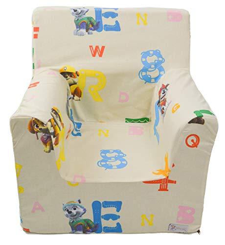 Borda y más Sillón o Asiento Infantil de Espuma para bebés y niños. Varios Modelos y Colores Disponibles. (La Patrulla Canina)