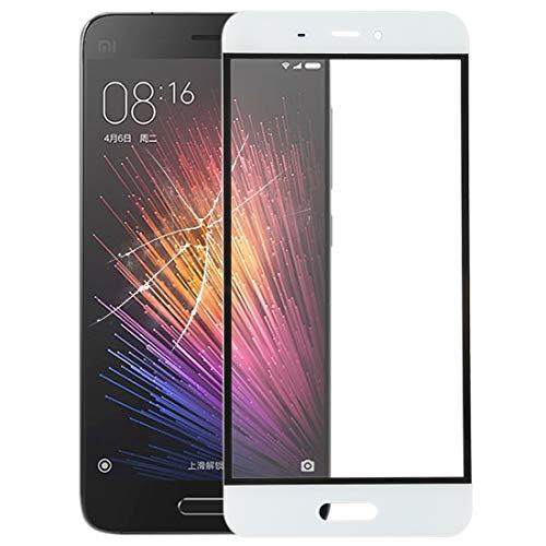 Xiaomi Ersatz 10 STÜCKE Frontscheibe Äußere Glaslinse for Xiaomi Mi 5 (Schwarz) Xiaomi Ersatz (Farbe : Weiß)
