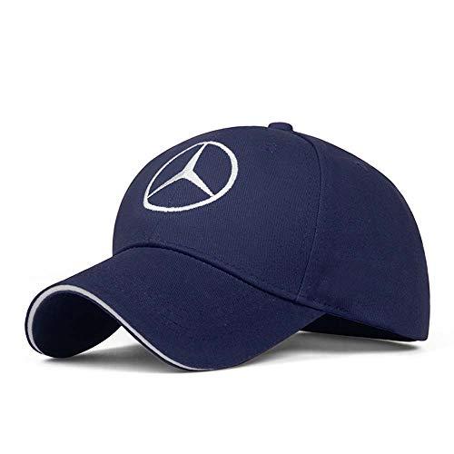 CCBaseball Car Logo Adjustable Baseball Cap, Unisex Hat Travel Cap Car Racing Motor Hat for Benz (Blue)