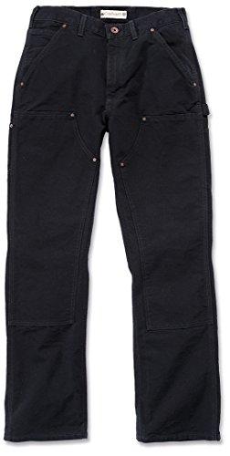 Carhartt Workwear Hose Washed Duck Work Dungaree Arbeitshose, Größe 33 / 30, schwarz EB136