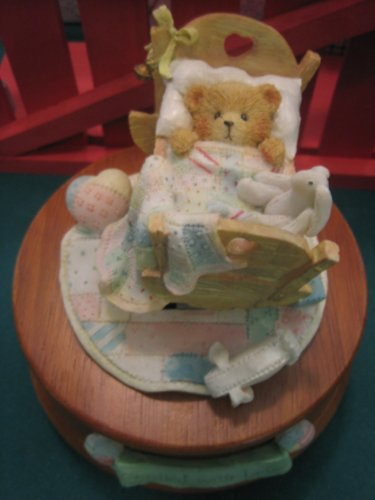 Lowest Prices! Cherished Teddies Baby In Cradle(Musical)--Brahms' Lullaby