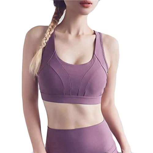 Femme Soutien-Gorge Confortable et Respirant de Sport Lingerie Brassière Sport Push Up Bra Courir Vest Coussinets pour Fitness Jogging Yoga Course,A,S