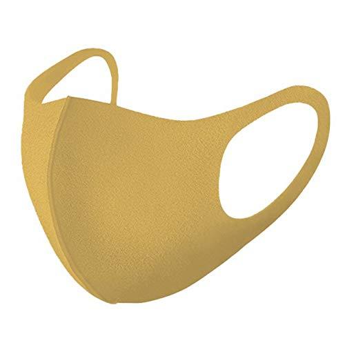 マスク 洗える ウレタンマスク 蒸れない 個包装 マスク 使い捨て 大人用 子供用 3枚入 1パック (HONEY MUSTARD(ハニーマスタード), レギュラー)