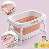 Bañera plegable de los niños, bebé lavabo, portátil for niños Con piscina FEOPW (Color : Pink)