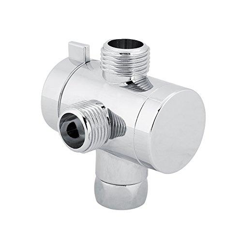 Fdit Adaptador de Conector de Válvula de Desviación de Cabeza de Ducha ABS 3 Vías Accesorio de Baño para Hogar