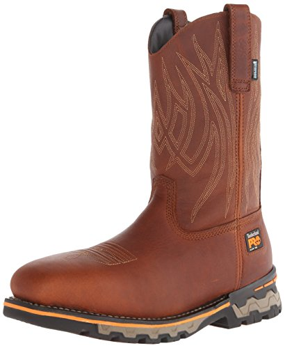 Timberland PRO Men's AG Boss Pull-on Alloy SQ Toe Work and Hunt Boot, Red/Brown Full Grain Leather, 7.5 W US