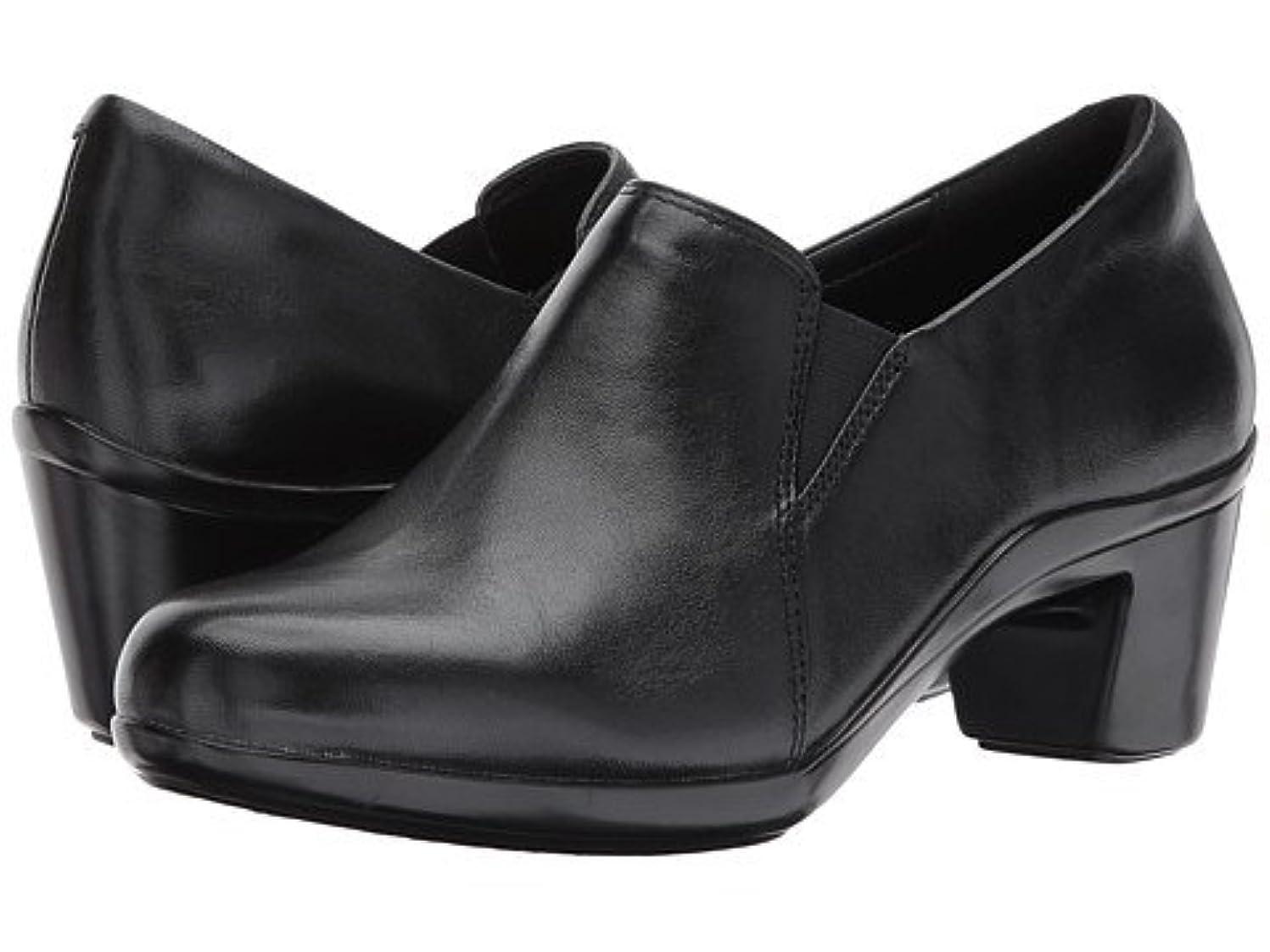 バウンス雪の変換する(アラヴォン)Aravon レディースヒール?パンプス Lexee Twin Gore Black Leather 7.5 24.5cm W (D) [並行輸入品]