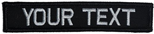 Customizable Text 1x5 Patch w/Hook Fastener Morale Patch - Black