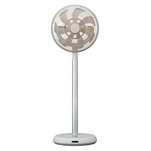 カモメファン 扇風機 メタルリビングファン 30cm 首振り リモコン付き ホワイト FKLT-302D WH