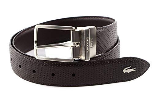 Lacoste RC4002 Cinturón, marrón, 130 cm para Hombre