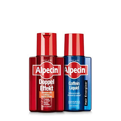 Alpecin shampoo alla caffeina Doppel Effekt, 200 ml + Alpecin Coffein Liquid, 200 ml -
