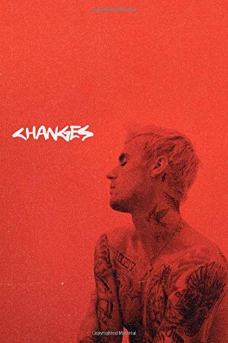 Justin Bieber Changes Album Fan Journal/Notebook: for music lovers, teens, fan girls, young adults: Song writing/inspiration/motivation book school/college ruled notebook