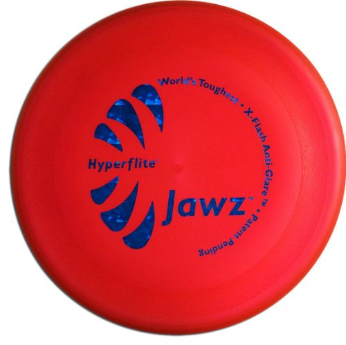 Hyperflite Jawz Competition Dog Disc 22 cm, Worlds Toughest, Flying, Pannenresistent, Dog Frisbee, kein Spielzeug, Wettkampf, Outdoor Flying Disc Training, rot
