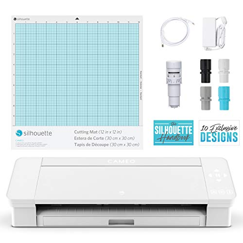 Silhouette Cameo 4 with Bluetooth, 12x12 Cutting Mat,...