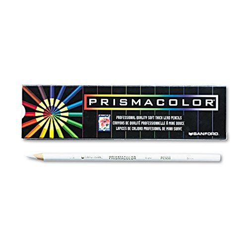 Prismacolor 3365 Premier Colored Pencil White Lead/Barrel Dozen