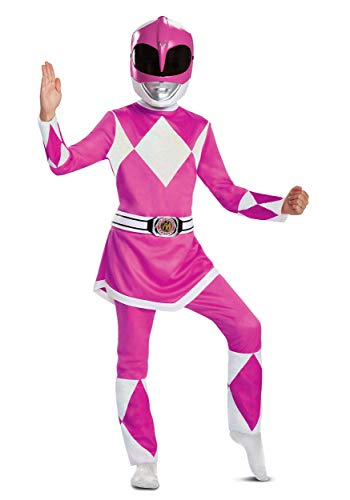 Disguise Pink Ranger Deluxe Child Costume, Pink, Size/(4-6x)
