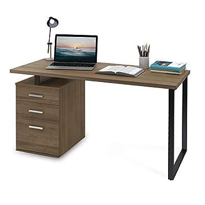 DEVAISE Computer Desk with Reversible File Cabinet