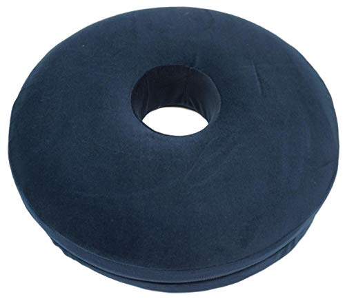 Ring Shaped Cushion Memory Foam Donut Support Seating Pillow Treatment for Haemorrhoids, Piles, Bed Sores Ulcers, Prostate, Coccyx, Tailbone, Back, Sciatica Pain