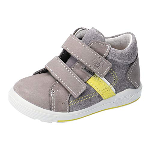 RICOSTA Kinder Stiefel LAIF von Pepino, Weite: Mittel (WMS),wasserfest, Freizeit Boots Klettstiefel Leder Kinder,Graphit/Sole,26 EU / 8 Child UK