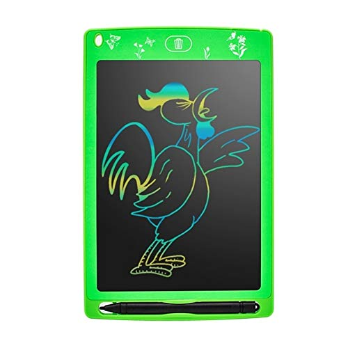 Graphic Tablets Electronic Drawing Board ,8.5 inch Color LCD with Stylus,For School Home Office (Color : Green)
