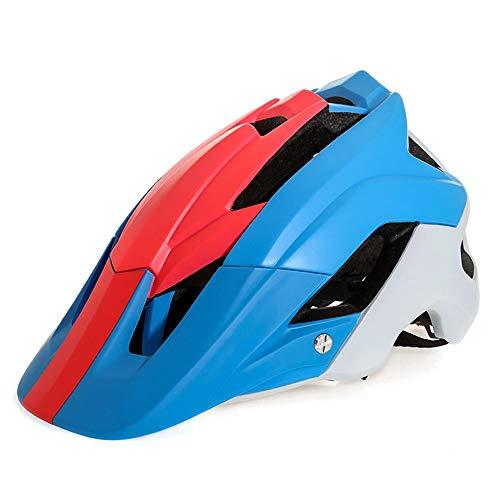 Adulto Bici Casco Casco de la Bicicleta Hombres Mujeres Ciclismo de Carretera y BTT protección de la Seguridad Ajustable Casco Ligero (Color : Blue)