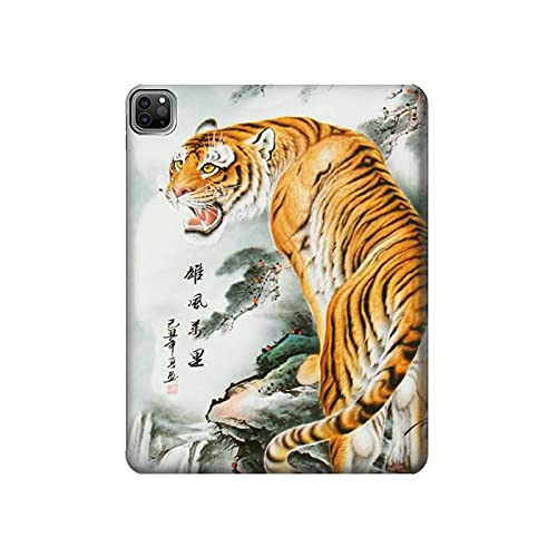 Innovedesire Oriental Chinese Tiger Painting Tablet Case Cover Custodia per iPad PRO 12.9 (2021)