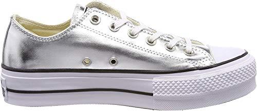 Converse Damen Ctas Lift OX Fitnessschuhe, Silber (Silver/Black/White 050), 41 EU (7.5 UK)