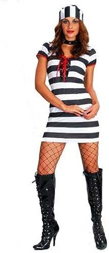 Ladies Fancy Dress Convict Prisoner Cutie medium 12 14