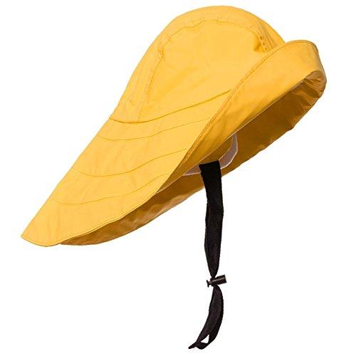 Modas Südwester aus PVC mit Innenfutter, Farbe:gelb, Größe:S