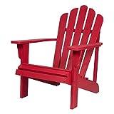 Shine Company 4621CR Westport II Hydro-TEX Finish, Chili Red Adirondack Chair