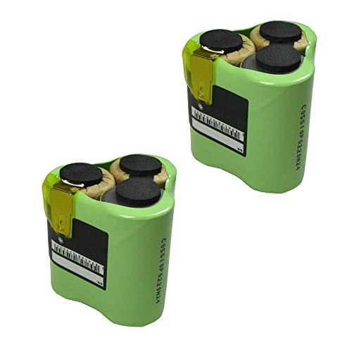 2x Hochleistungs Ni-MH Ersatz Akku Batterie Battery 3,6V/3,7V / 3000mAh für AEG Liliput AG1413 Liliput Classic 1 ersetzt 520103 für Handstaubsauger