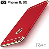 "Ron *3-in-1 Dual Layer Thin Back Cover Case for Apple iPhone 6/6S"" (Red)"