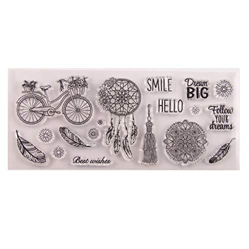 NKYSM stempel Kerstmis Nieuwjaar, fietsveer Silicone Clear Seal stempel voor DIY Scrapbook reliëf ambachtelijke decoratie