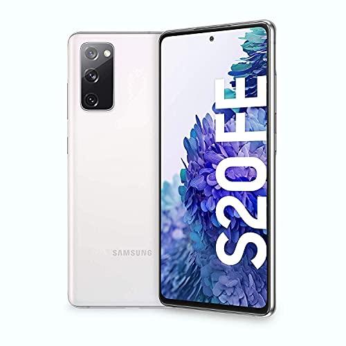 Samsung Smartphone Galaxy S20 FE, Display 6.5  Super AMOLED, 3 Fotocamere Posteriori, 128 GB Espandibili, RAM 6GB, Batteria 4.500mAh, Hybrid SIM, 2021, Snapdragon 865, Cloud White [Versione Italiana]