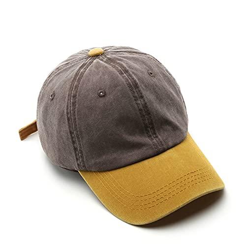 YIERJIU Gorra Gorras Beisbol Gorra de béisbol de Moda para Hombres y Mujeres Gorras de algodón Lavado Sombreros de Verano para el Sol Sombrero Snapback Informal Unisex,S