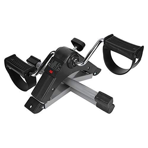 Gmkjh Mini Ciclo, Mini Entrenador Práctico Bicicleta Ejercitador de Piernas Plegable Fitness Stepper Equipo de Entrenamiento Interior
