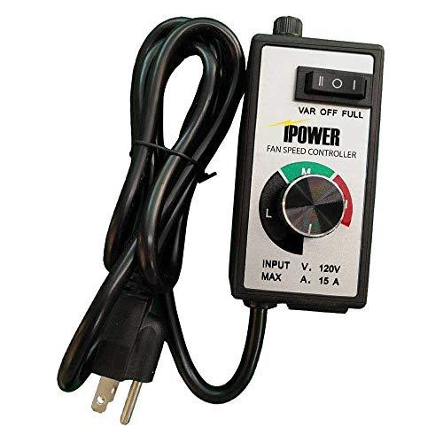 iPower GLFANXCONTROLMAX Exhaust Variable Vent Fan Speed Adjuster HVAC Controls, Black