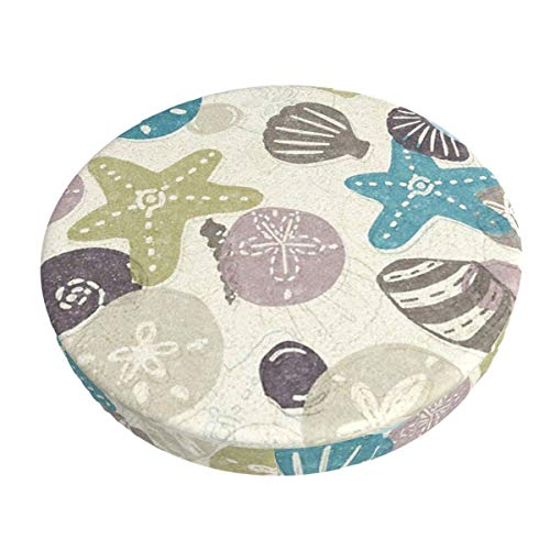 Round Bar Stools Cover,EIN Spaziergang Am Strand,Stretch Chair Seat Bar Stool Cover Seat Cushion Slipcovers Chair Cushion Cover Round Lift Chair Stool