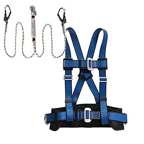 WWDD Kits de Arnés de Seguridad,Grueso Arnés de Escalada Escalada Equipar Expedición,Equipos Anticaídas para Trabajos Aéreos Rescate de Incendios, Entrenamiento Expandible