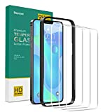 Deyooxi 3 Unidades Cristal Templado Compatible con iPhone 12 Pro Max,Pantalla Protectora Completa de Cobertura Total Compatible con iPhone 12 Pro Max (6.7'),Vidrio Templado protector,Transparente