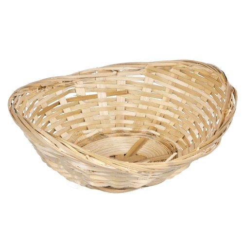 Set Of 10 Vintage Oval Natural Wicker Bread Basket Storage Serving Display Trays
