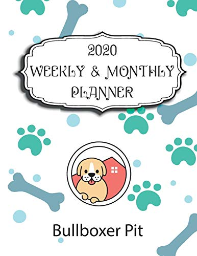 2020 Bullboxer Pit Planner : Weekly & Monthly with Password list, Journal calendar for Bullboxer Pit owner ,8.5x11: 2020 Planner /Journal Gift,135 pages, 8.5x11, Soft cover, Mate Finish