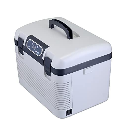 HALIGHT Refrigerador Portátil, 19l Congelador, Congelador Coche con 12 / 24V DC O 220V AC, Refrigerador Portátil Coche, Apto para Camiones, Caravanas, Barcos, Camping Y Viajes