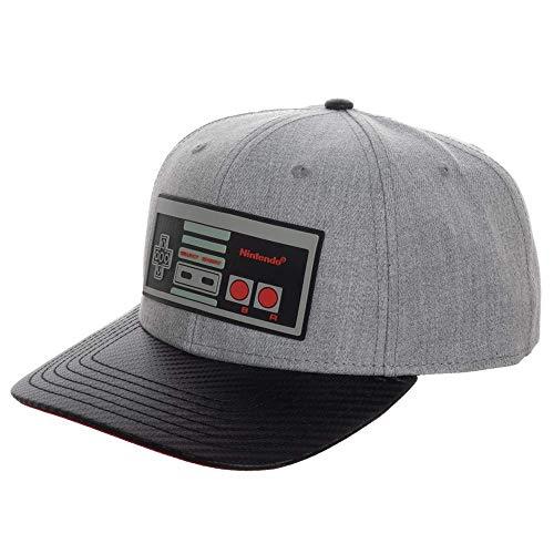 Nintendo Video Game Controller Snapback Mens Hat Gray