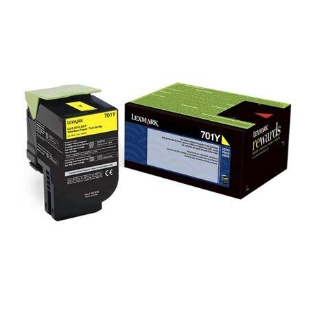 Lexmark Genuine Brand Name, OEM 70C10Y0 (Lexmark 701Y) Return Program Yellow Toner Cartridge (1K YLD) for CS310DN, CS310N, CS410DN, CS410DTN, CS410N, CS510DE, CS510DTE Printers